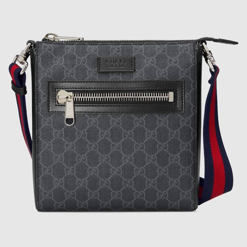 Borsa a tracolla Gucci Uomo 2019 in tessuto nero e grigio Borsa a tracolla Gucci Uomo 2019 in tessuto nero e grigio - Borse a tracolla uomo Gucci 2019