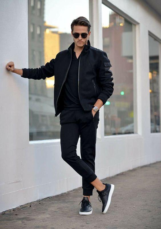 Esempio abbigliamento maschile casual con giubbino bomber - Outfit Uomo Casual Chic