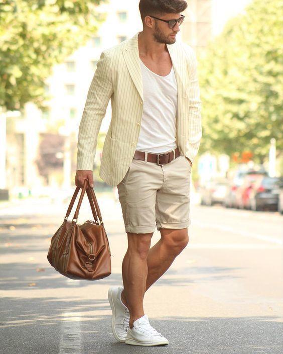 Outfit Uomo Casual Chic con pantaloni corti 1 - Outfit Uomo Casual Chic