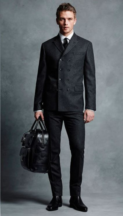 Outfit uomo business elegante con giacca doppiopetto moda 2019 - Outfit Uomo Business Elegante e Casual