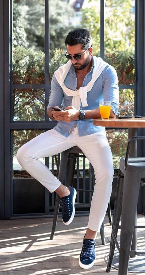 Outfit uomo casual primaverile estivo - Outfit Uomo Casual Chic