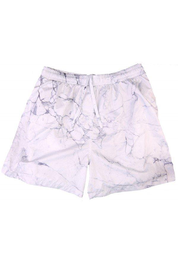 Costume da bagno uomo boxer Bikini Lovers modello Marble White - Costumi Uomo Bikini Lovers