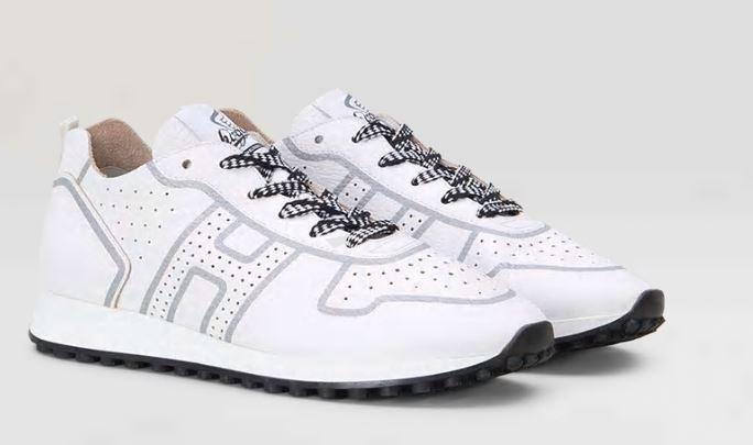 Sneakers Uomo Hogan bianche mod H383 primavera estate 2019 prezzo 290 euro - Scarpe Hogan Uomo primavera estate 2019