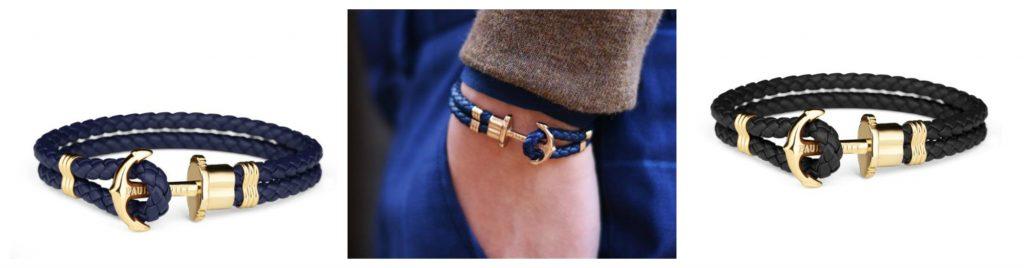 Bracciali Ancora Phrep Paul Hewitt con cinturino in cuoio e morsetto color oro 1024x268 - Bracciali Uomo Paul Hewitt moda estate 2019