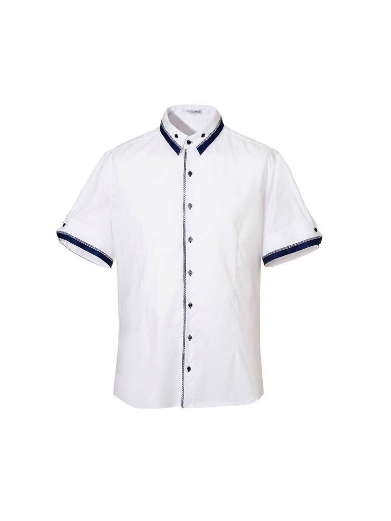 Camicia a maniche corte uomo bianca Nara Camicie estate 2019 768x1024 - Catalogo Uomo Nara Camicie primavera estate 2019