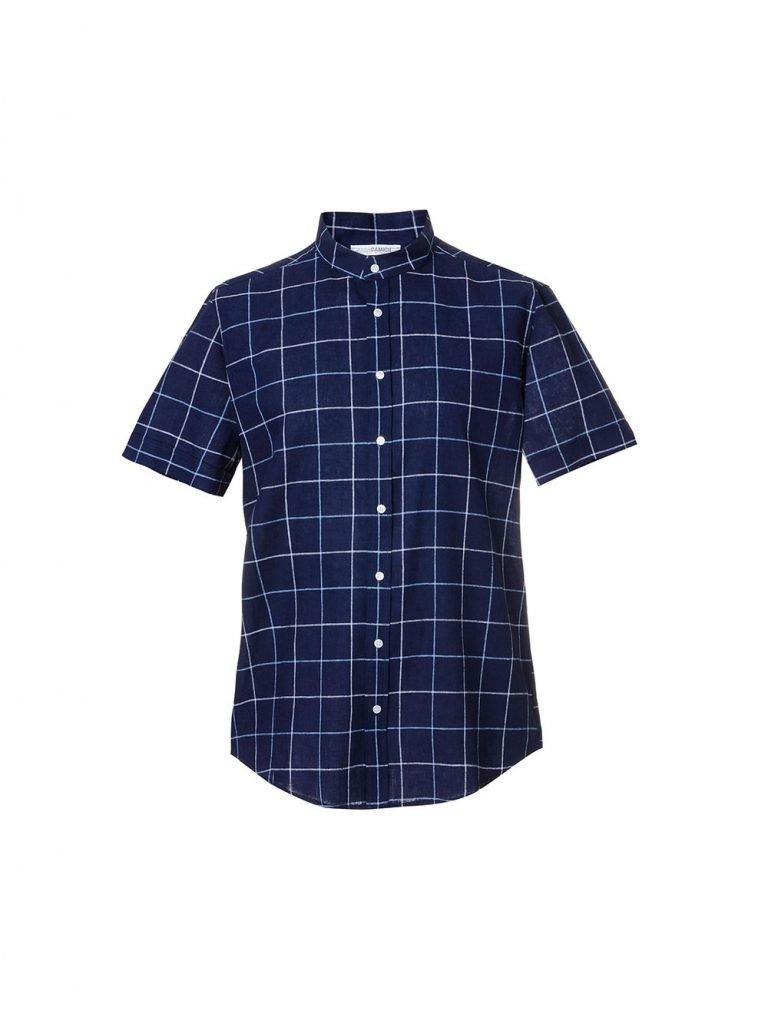 Camicia a maniche corte uomo in misto lino Nara Camicie estate 2019 768x1024 - Catalogo Uomo Nara Camicie primavera estate 2019