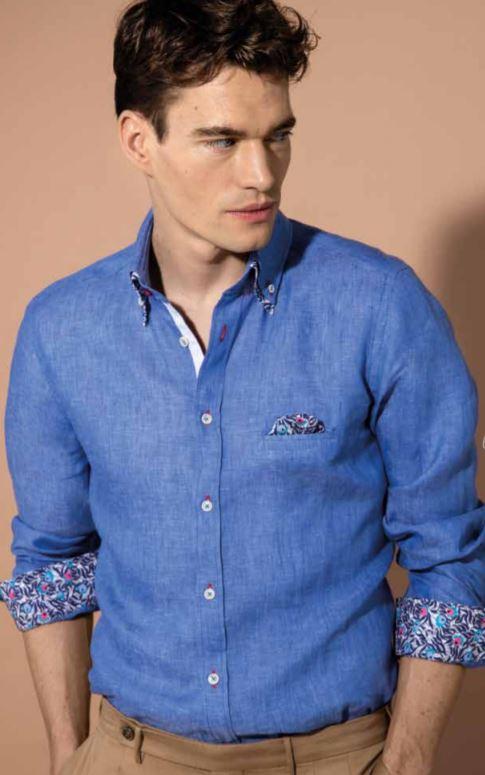 Camicia in lino uomo Nara Camicie collezione primavera estate 2019 - Catalogo Uomo Nara Camicie primavera estate 2019