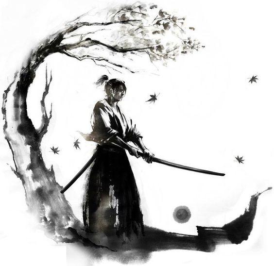 Disegno per tatuaggio uomo samurai - Tatuaggio Uomo Samurai