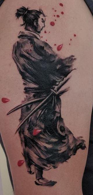 Foto Tatuaggio Uomo Samurai - Tatuaggio Uomo Samurai