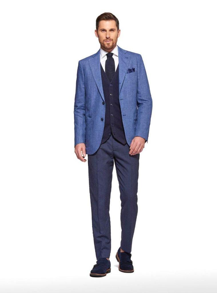 Giacca in puro lino Gutteridge collezione primavera estate 2019 colore azzurro 759x1024 - Giacche Uomo Gutteridge collezione primavera estate 2019
