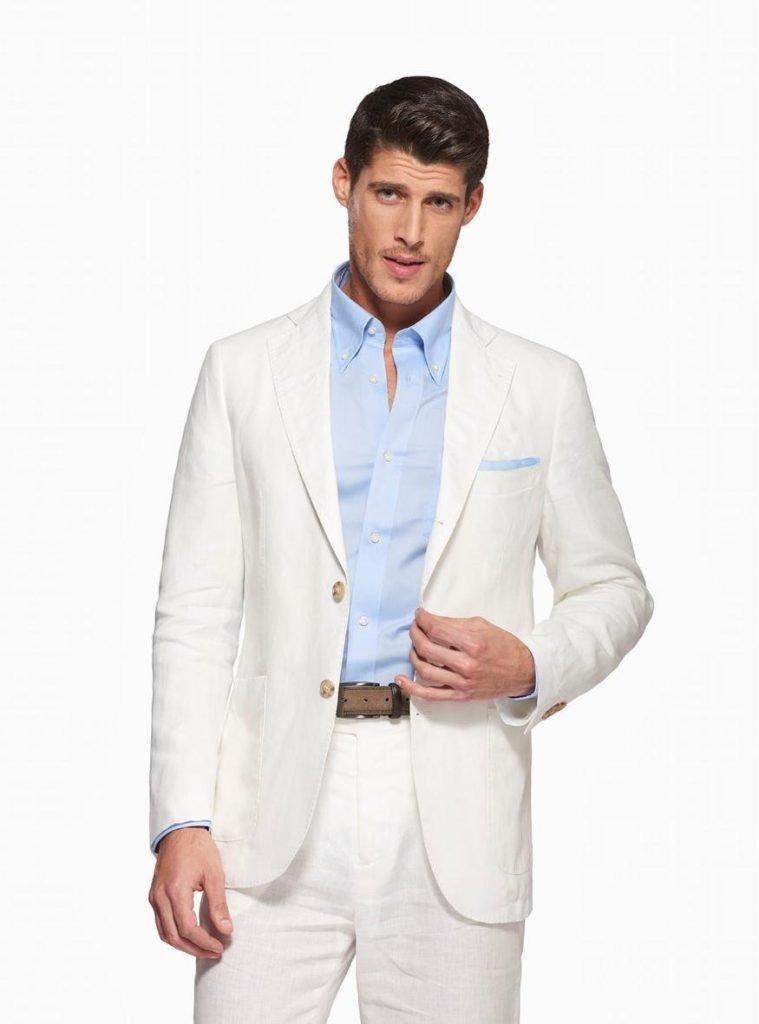 Giacca in puro lino Gutteridge collezione primavera estate 2019 colore bianco 759x1024 - Giacche Uomo Gutteridge collezione primavera estate 2019