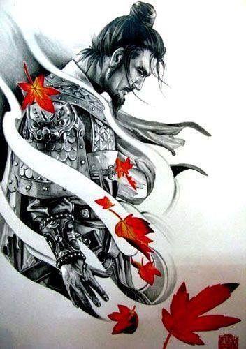 Idea disegno per un tatuaggio con il simbolo di Samurai - Tatuaggio Uomo Samurai