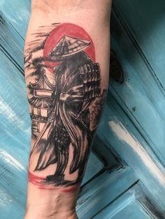 Idea tatuaggio maschile con il simbolo del Samurai - Tatuaggio Uomo Samurai