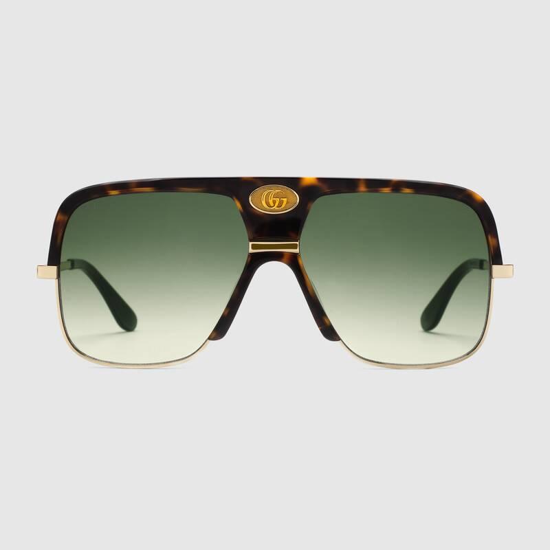 Occhiale da sole Navigator Gucci con il logo doppia G 2019 - Occhiali da sole GUCCI Uomo 2019