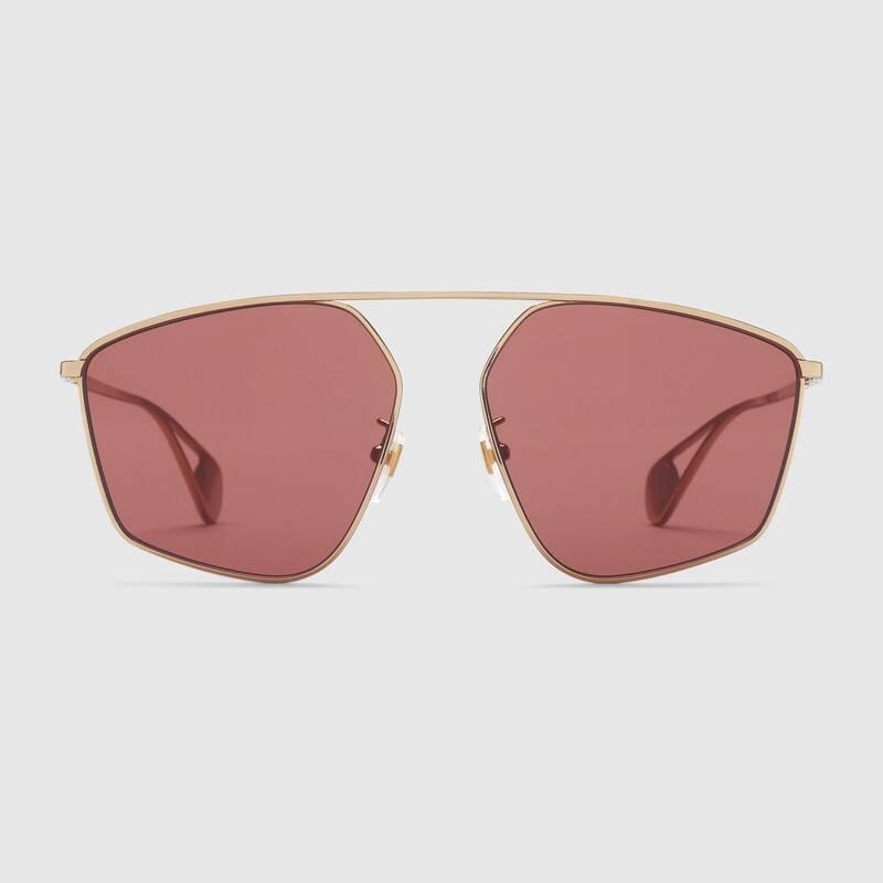 Occhiale da sole dalla forma geometrica Gucci 2019 - Occhiali da sole GUCCI Uomo 2019