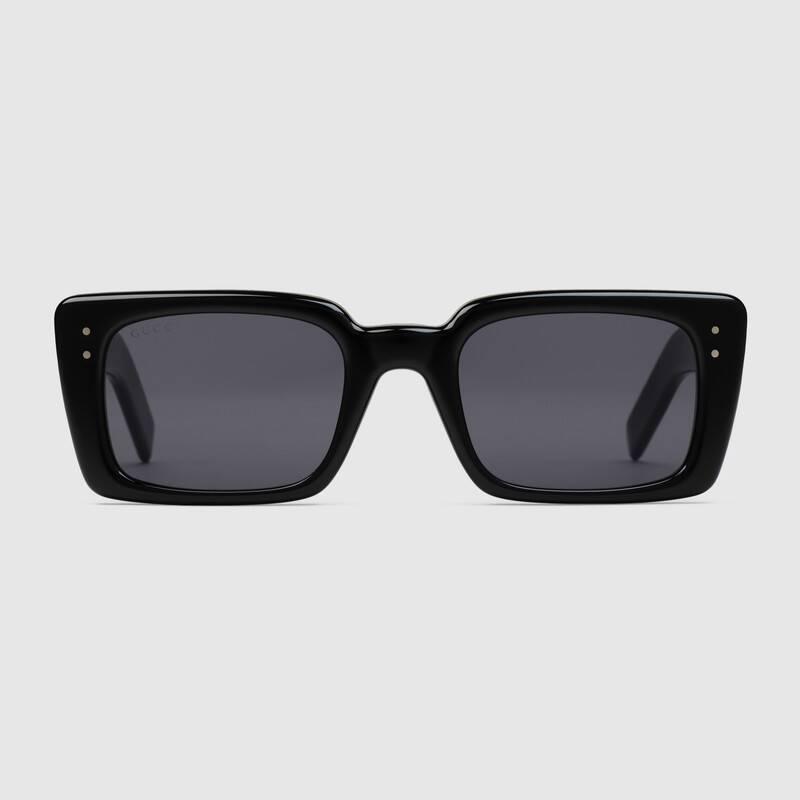 Occhiali da sole neri Gucci rettangolari estate 2019 - Occhiali da sole GUCCI Uomo 2019