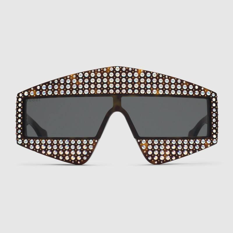 Occhiali da sole oversize con cristalli Gucci 2019 - Occhiali da sole GUCCI Uomo 2019