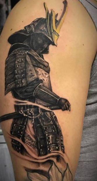 Tattoo Samurai sul braccio - Tatuaggio Uomo Samurai