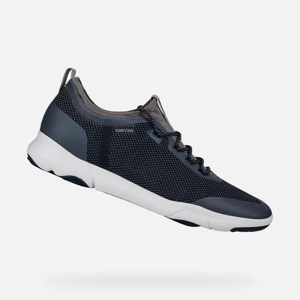 Nuove sneakers GEOX uomo estate 2019 modello Nebula X blu navy - Geox Sneakers Uomo Estate 2019