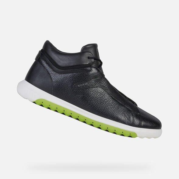 Nuove sneakers GEOX uomo estate 2019 modello Nexside alte nere - Geox Sneakers Uomo Estate 2019