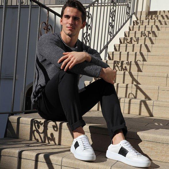 Scarpe uomo Geox modello Ottaya estate 2019 con bada nera - Geox Sneakers Uomo Estate 2019