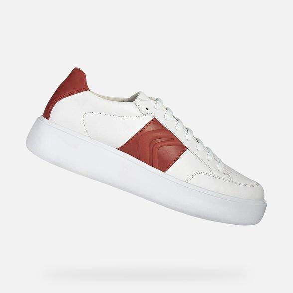 Scarpe uomo Geox modello Ottaya estate 2019 con banda rossa - Geox Sneakers Uomo Estate 2019