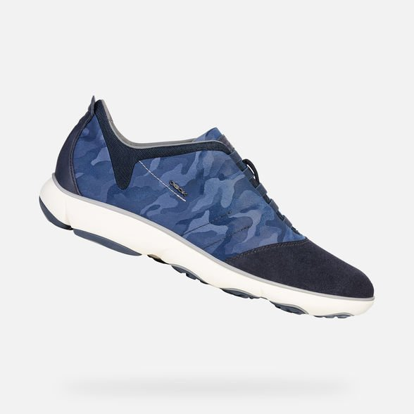 Sneakers uomo Geox modello Nebula 2019 fantasia camouflage - Geox Sneakers Uomo Estate 2019