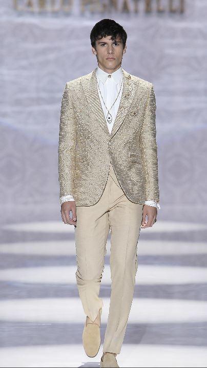 Abito da sposo Carlo Pignatelli 2020 beige e oro - Abiti da Sposo 2020 Carlo Pignatelli