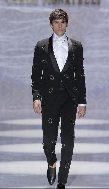 Abito da sposo Carlo Pignatelli 2020 nero con strass - Abiti da Sposo 2020 Carlo Pignatelli