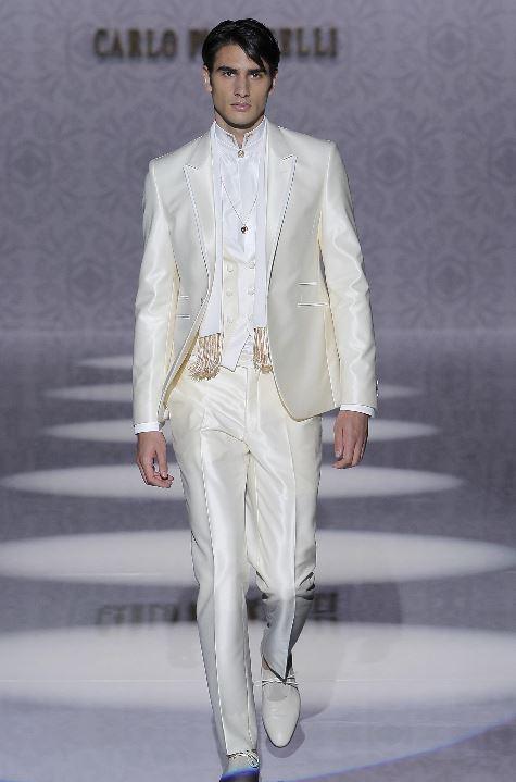 Abito da sposo Carlo Pignatelli color avorio 2020 - Abiti da Sposo 2020 Carlo Pignatelli