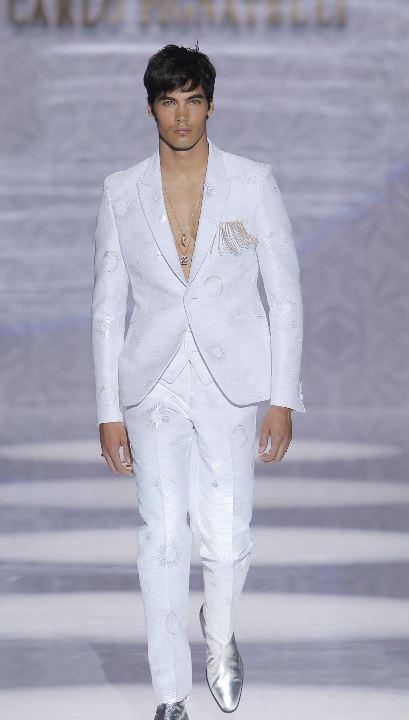 Abito da sposo bianco e argento Carlo Pignatelli 2020 - Abiti da Sposo 2020 Carlo Pignatelli