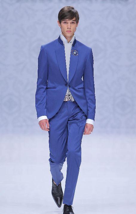 Abito da sposo blu reale collezione Pignatelli 2020 - Abiti da Sposo 2020 Carlo Pignatelli