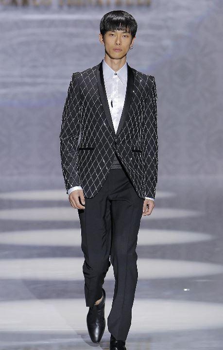 Abito da sposo con giacca con strass Pignatelli 2020 - Abiti da Sposo 2020 Carlo Pignatelli