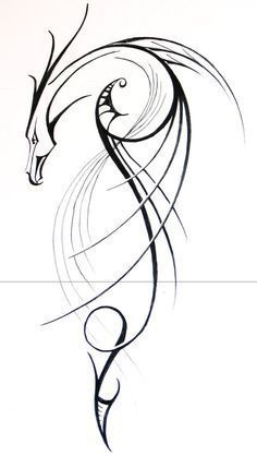 Idea disegno per tatuaggio drago stilizzato - Tatuaggio Drago Uomo: Foto e Significato