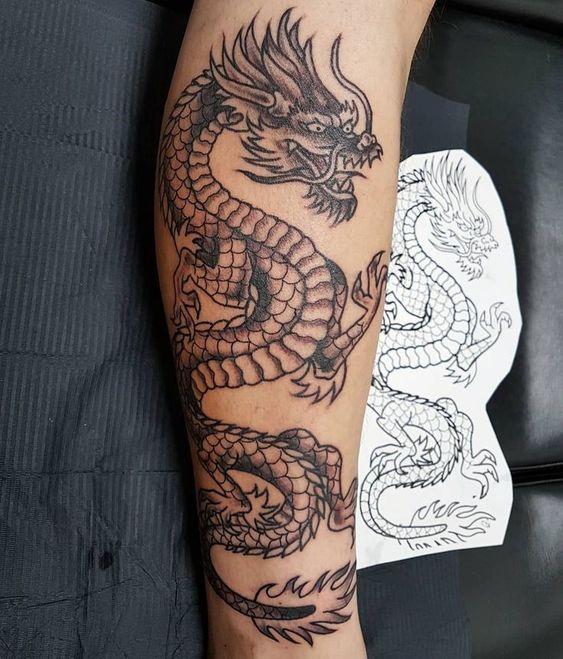 Tatuaggio drago giapponese sul braccio - Tatuaggio Drago Uomo: Foto e Significato