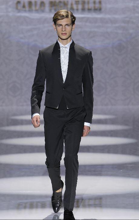 Vestito da sposo con giacca corta Pignatelli 2020 - Abiti da Sposo 2020 Carlo Pignatelli