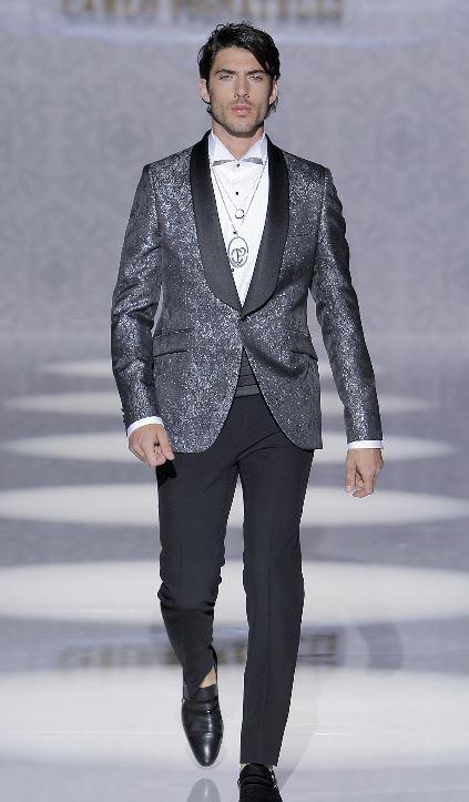 Vestito da sposo con giacca glitterata Carlo Pignatelli 2020 - Abiti da Sposo 2020 Carlo Pignatelli