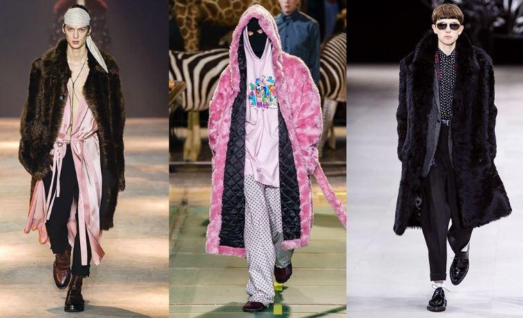 Cappotti in pelliccia Moda Uomo inverno 2019 2020 - Tendenze Moda Abbigliamento Uomo Inverno 2019 2020