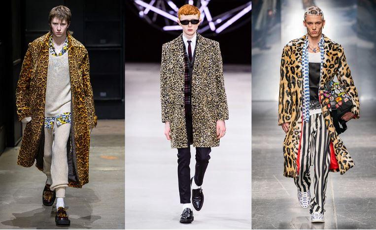 Fantasia leopardata Moda Uomo Inverno 2019 2020 - Tendenze Moda Abbigliamento Uomo Inverno 2019 2020