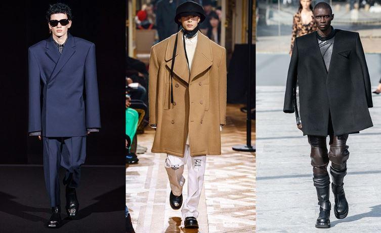 Giacche e Cappotti dalle spalle oversize moda uomo inverno 2019 2020 - Tendenze Moda Abbigliamento Uomo Inverno 2019 2020