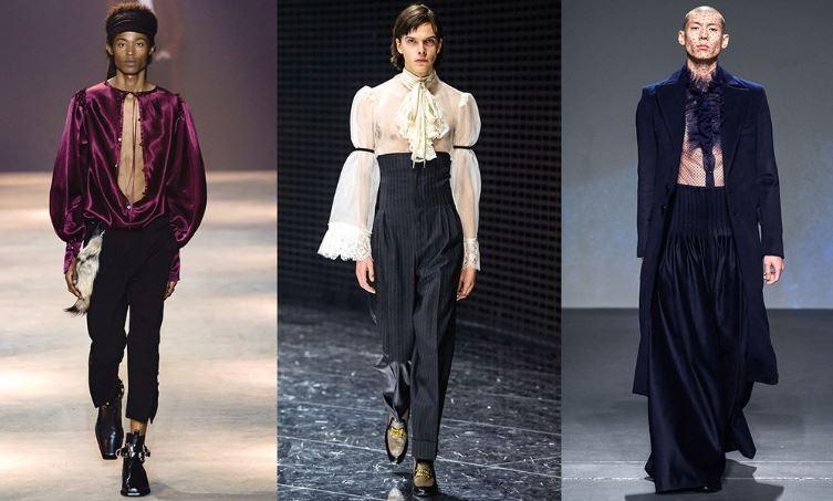 Look poetico e romantico moda Uomo inverno 2019 2020 - Tendenze Moda Abbigliamento Uomo Inverno 2019 2020