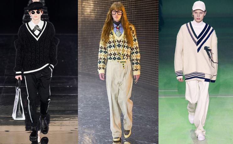 Maglioni con il collo a V moda Uomo Inverno 2019 2020 - Tendenze Moda Abbigliamento Uomo Inverno 2019 2020