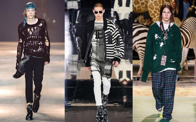 Maglioni strappati Moda Abbigliamento Uomo inverno 2019 2020 - Tendenze Moda Abbigliamento Uomo Inverno 2019 2020