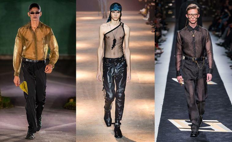 Moda Abbigliamento Uomo con trasparenze - Tendenze Moda Abbigliamento Uomo Inverno 2019 2020