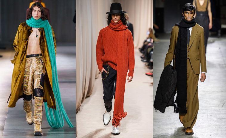 Sciarpe extra long moda uomo inverno 2019 2020 - Tendenze Moda Abbigliamento Uomo Inverno 2019 2020