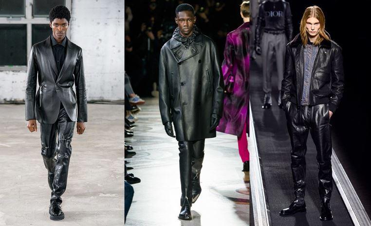 Tendenze Moda abbigliamento uomo inverno 2019 2020 la pelle - Tendenze Moda Abbigliamento Uomo Inverno 2019 2020