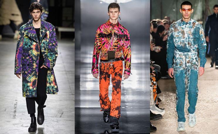 Tendenze Moda abbigliamento uomo inverno 2019 2020 stampe colorate tie dye - Tendenze Moda Abbigliamento Uomo Inverno 2019 2020