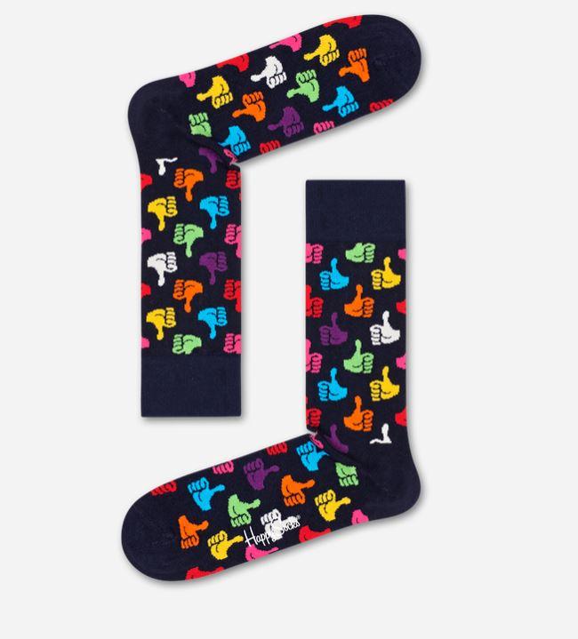 Calzino uomo con like Thumbs Up by Happy Socks collezione inverno 2019 2020 - Nuovi Arrivi Calzini Uomo Happy Socks Inverno 2019 2020