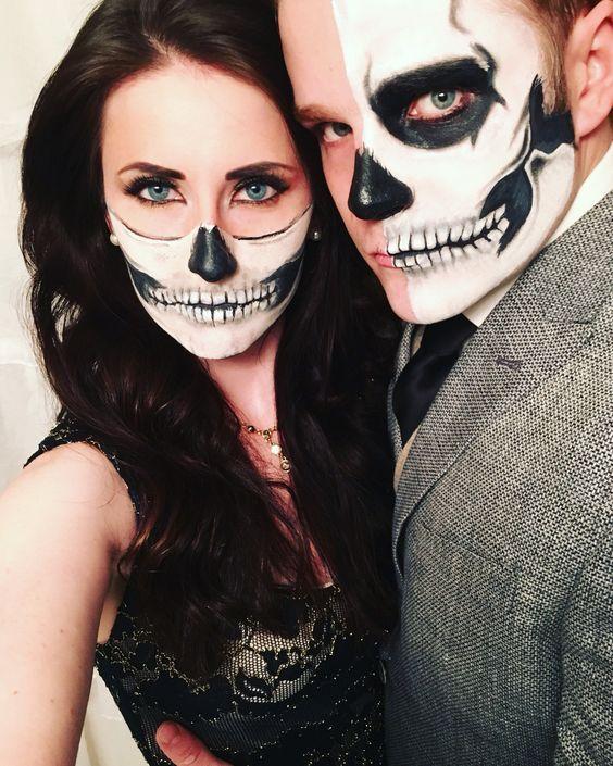 Idea trucco coppia per Halloween  - Trucco Uomo Halloween: Foto Idee