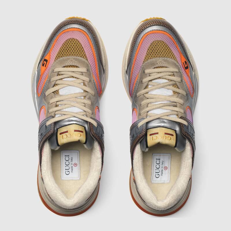 Nuove scarpe uomo Gucci modello Ultrapace in tessuto grigio collezione inverno 2019 2020 prezzo 690 euro - Nuove scarpe Gucci Uomo Inverno 2019 2020